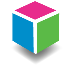 Life by Design three coloured box logo